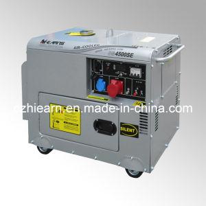 Triphasé silencieux Air-Cooled vérin unique générateur diesel Set (DG4500SE3)