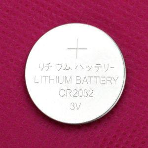 Mikroleistungs-Lithium-Tasten-Zelle 3V Cr2032