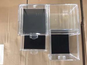 Boîte de cosmétiques en plastique transparent cas cosmétiques