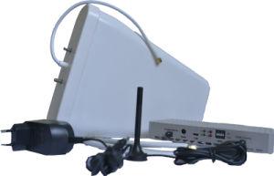 Bevordering! De Spanningsverhoger + de Kabel van het Signaal van de Telefoon van de Cel van vier Band + Antenne Twee die voor Verhoging de Repeater van het Signaal van de Mobilofoon wordt gebruikt