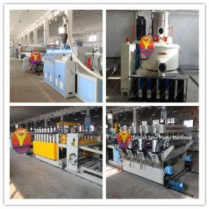 PVC corteza / Celuka espuma Junta Línea de producción (SJSZ80 / 173) / Siemens socio estratégico / PVC WPC espuma de la máquina de extrusión de láminas