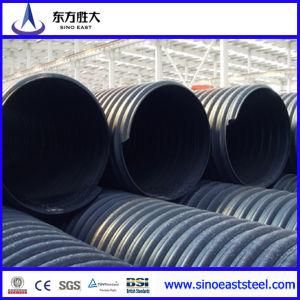Pared doble de HDPE tubo corrugado en stock