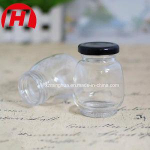 80ml annullano intorno alla bottiglia di vetro dell'ostruzione del miele