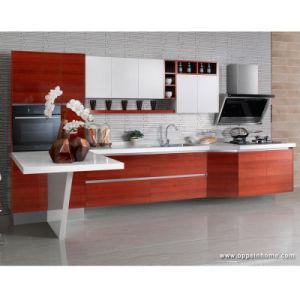 Laminado moderno de la Junta de partículas kitchen cabinet (OP13-248)