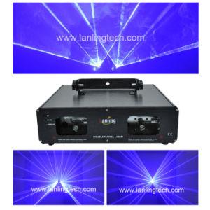 Двойной 470нм синего лазера, 2 головки, лазерное шоу L2810