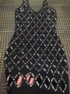 Signora Short Beading Bandage Dress