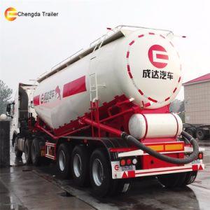 40toneladas 45m3 Navio petroleiro de cimento em pó semi reboque