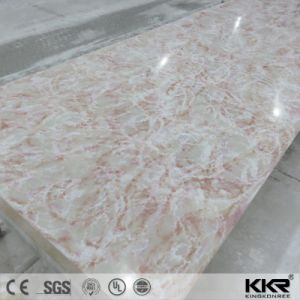 25mm de espesor de material decorativo Superficie sólida de piedra blanca