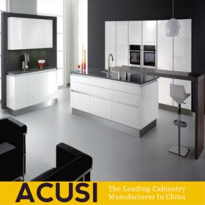 Armadio da cucina di legno personalizzato della lacca di disegno moderno (ACS2-L110)