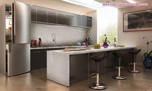 2017 Novo Estilo de cozinhas modernas com Kimria bancadas de quartzo