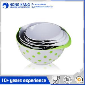 Logo personnalisé Bicolor vaisselle bol de nouilles de mélamine