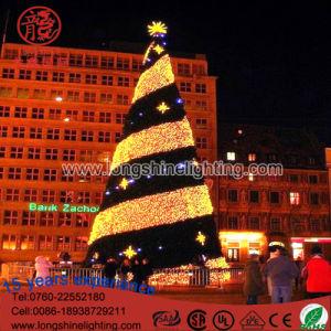 LED-Beleuchtung-Weihnachtsmotiv-Spirale-Baum-Weihnachtsdekoration-Licht