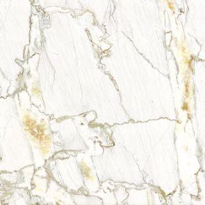 80X80 het gele Marmer verglaasde de Volledige Opgepoetste Tegel van de Vloer van het Porselein voor Binnenland