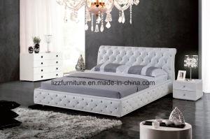حديثة شسترفيلد غرفة نوم جلد سرير مجموعة