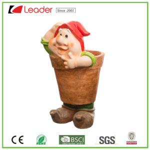 Модные Polyresin Gnome статую цветочный сеялку для дома и сада орнаментом