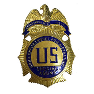 주문을 받아서 만들어진 고품질 연약한 사기질 금속 경찰 기장 (XDBGS-317)
