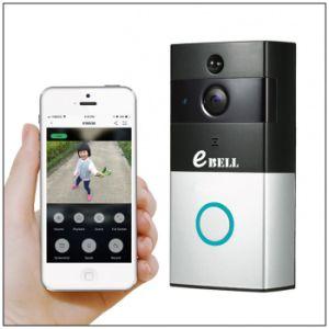 Nagelneue niedrige Energie batteriebetriebene WiFi videotürklingel, HD drahtlose Türklingel-Kamera betreiben an Handy, kann Innenzarge als Anzeige hinzufügen
