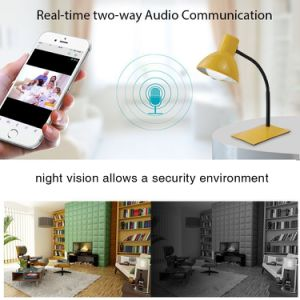 Drahtlose Birnen-Kamera WiFi IP-1080P inländisches Wertpapier-Überwachungskamera für den älteren Baby-Kindermädchen-Nocken-Haustier-Monitor