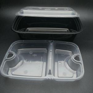 De plástico desechable Venta caliente 1500ml PP Fiambrera de almacenamiento de contenedores