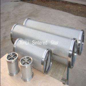 Piatto perforato e cartuccia di filtro sinterizzata dalla rete metallica