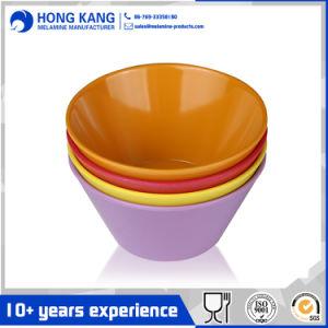 Multicolor de vajillas de melamina Punch Bowl Contenedor de alimentos
