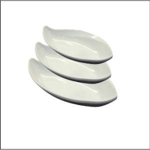 100 % de la mélamine de la vaisselle/plaque de la forme des feuilles de mélamine profonde (WT1603-14)
