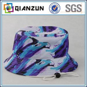 Cappello poco costoso della benna del cotone di stampa del cappello su ordinazione all'ingrosso della benna