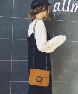 Venda por grosso Crossbody Bag senhoras de bolsas de couro personalizado PU mulheres Saco de ombro pequena bolsa de qualidade com corrente