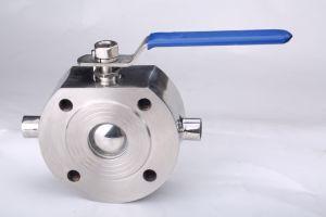 1PC полупроводниковая пластина из нержавеющей стали с буртиком шаровой клапан с ISO5211 (PN16/40)