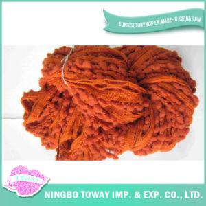 Lado de tricotar chapéu de Inverno da tecelagem de fios de fantasia de algodão
