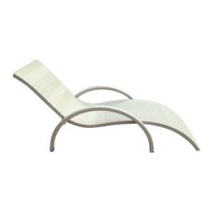 PE As medulas Varanda Hotel de lazer exterior Wicker cadeira espreguiçadeira deitado Bed