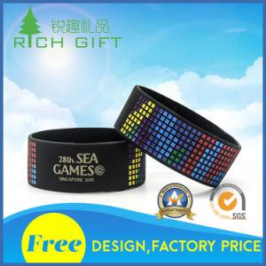 Braccialetti sani alla moda 100% dei Wristbands/del silicone di abitudine con il marchio di colore