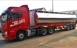 トレーラー43000リットルの大型トラックのトレーラーのアルミ合金5083の燃料のタンカーの