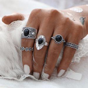 De antieke Ringen van de Vinger van MIDI van de Steen voor Vrouwen