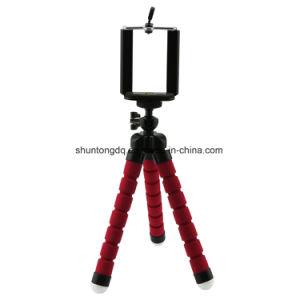 Mini montagem flexível portátil Monopod do carrinho do suporte do tripé do polvo da esponja + suporte do telefone para a montagem da câmera DSLR de Gopro