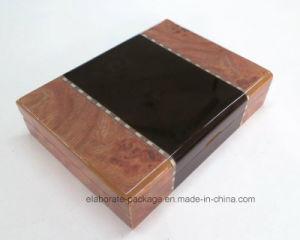 호화스러운 목제 광택 있는 수집 포장 반지 상자