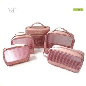 Conjunto de Oferta promocional do estilo novo espelho cosmético Saco de malha