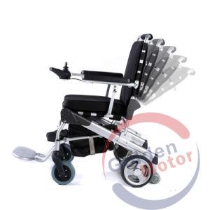 La FDA 8 pulg. de peso ligero Brushlesss Silla de ruedas eléctrica plegable