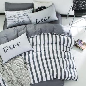 Insiemi europei semplici a buon mercato 100% del lenzuolo di disegno della banda del cotone