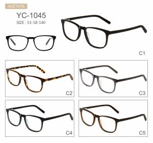 Oogglazen van uitstekende kwaliteit Eyewear van de Frames van de Acetaat van de Voorraad van de Fabriek van de Stijl van de Manier de Nieuwe Optische