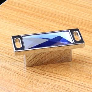 32mm Pitch Fashion Blue Crystal Zinc Alloy Hardware Furniture Knobs