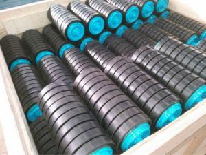 Transportador de rolos de impacto de borracha para extracção de carvão, Cimento, Britador