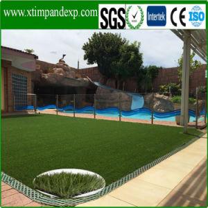 Het rechthoekige Gras van het Gras van het Garen van de Vorm Synthetische met Ce- Certificaat