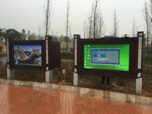 Arrêt de Bus Yashi LCD de l'information en temps réel Outdoor Digital Signage Player Vidéo