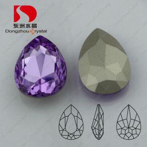 Buitensporige Steen van het Kristal van het Punt van de Kleur van de Manier van Pujiang de Achter voor Juwelen