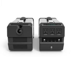 444watt/hr Portable avec batterie au lithium 400 Watt (Onduleur générateur solaire)
