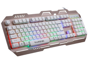 Het Toetsenbord van Gamer van de Legering van het Aluminium van het Certificaat van Ce RoHS (kb-906el-c)