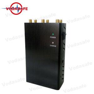 Más reciente de 6 bandas de alta potencia de salida de alta potencia Jammer WiFi GPS 4G con cargador de coche, CDMA/GSM/DCS/PHS/3G celular bloqueadores de señal de GPS