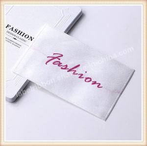 Diseño personalizados a lavar la ropa etiqueta tejida