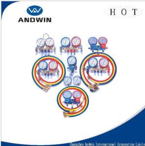 La presión de parte de equipos de refrigeración/indicador del colector de válvula de control o la pieza de refrigeración